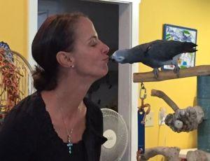 Jennifer Oliverio, Companion Animal Health representative, with Echo